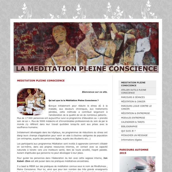 Apprendre, entretenir et approfondir sa pratique la méditation de pleine conscience - Nadine Germain Ateliers et parcours de méditation pleine conscience en région parisienne