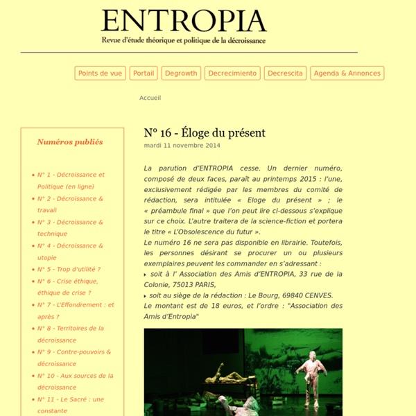 Entropia La Revue