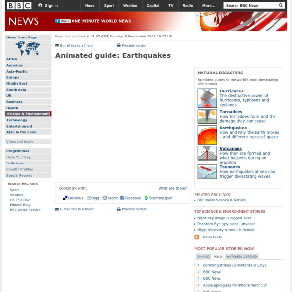 Animated guide: Earthquakes