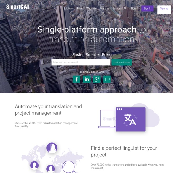 SmartCAT - Сloud environment for professional translation automation