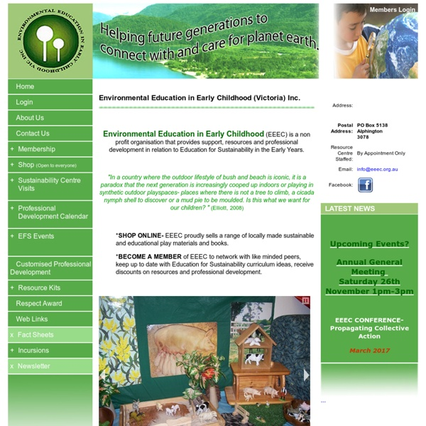 Environmental Education in Early Childhood - Victoria - Home Page