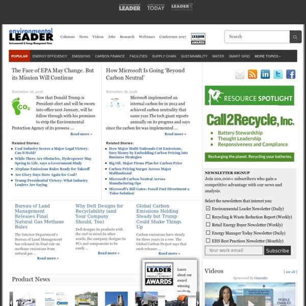 Environmental Management & Energy News · Environmental Leader