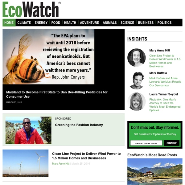 » Environmental News, Green Living and Sustainable Business