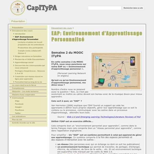 EAP: Environnement d'Apprentissage Personnalisé - CapITyPA