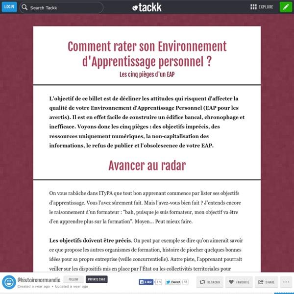 Comment rater son Environnement Personnel d'Apprentissage ? Les 5 pièges.
