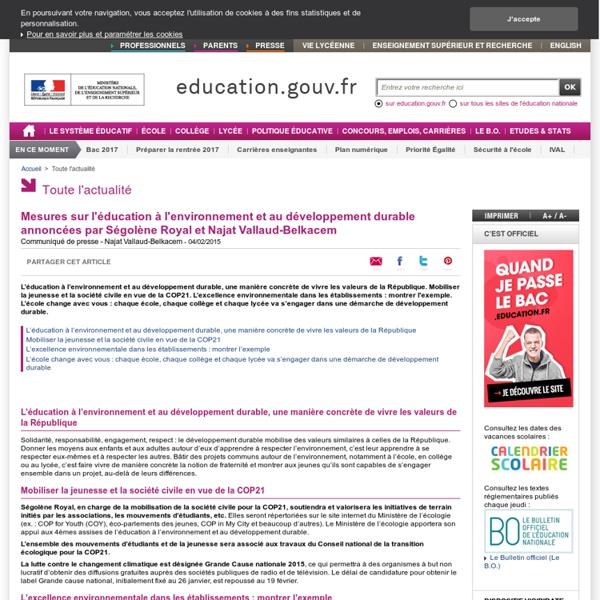 MEN - Mesures sur l'éducation à l'environnement et au développement durable
