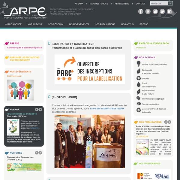 Agence Régionale Pour l'Environnement et l'écodéveloppement Provence-Alpes-Côte d'Azur