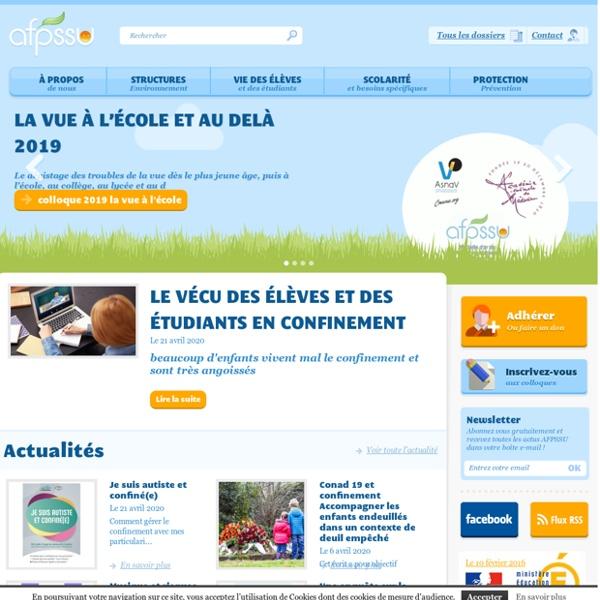 AFPSSU - Santé en environnement scolaire et universitaire