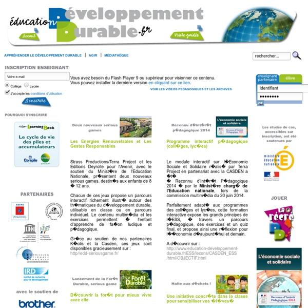 Site de l'Education à l'environnement pour un développement durable à destination du monde éducatif
