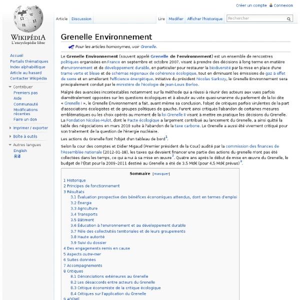 Grenelle Environnement