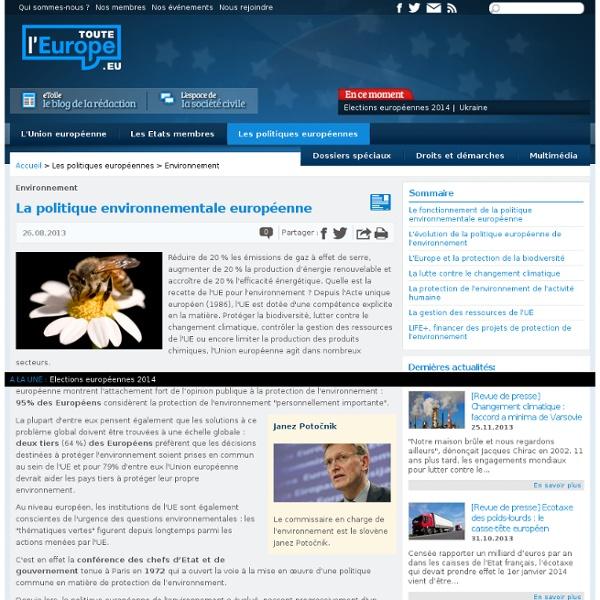 La politique environnementale européenne