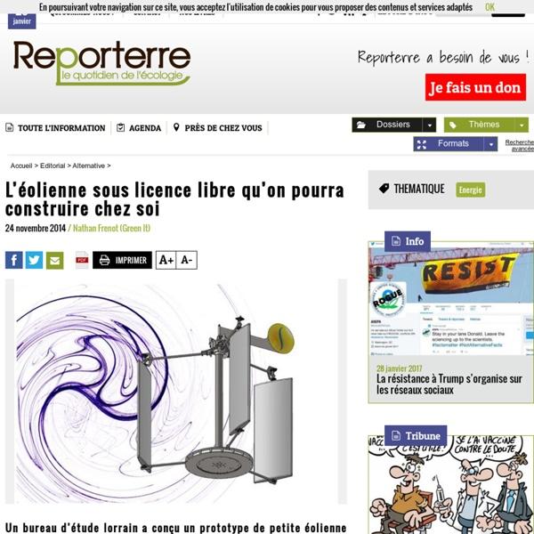 Reporterre - Aeroseed, eolienne opensource