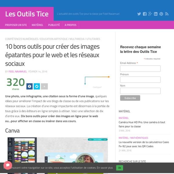 10 bons outils pour créer des images épatantes pour le web et les réseaux sociaux