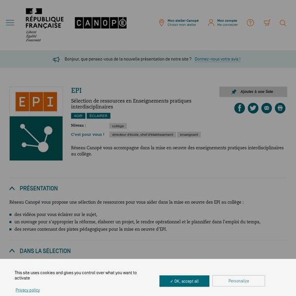Les EPI - sélection de ressources