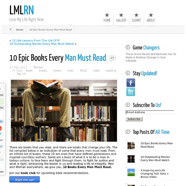 10 Epic Books Every Man Must Read