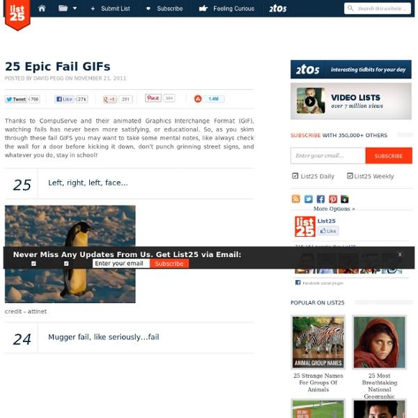 25 Epic Fail GIFs