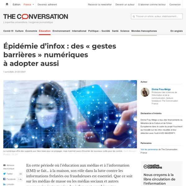 Épidémie d'infox : des«gestes barrières» numériques àadopter aussi