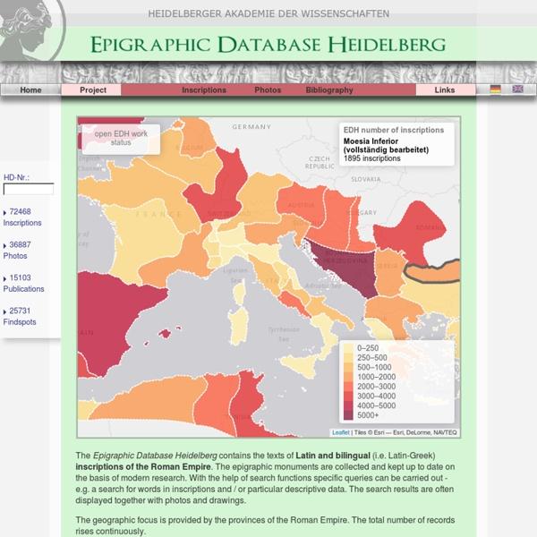 Home - Epigraphic Database Heidelberg