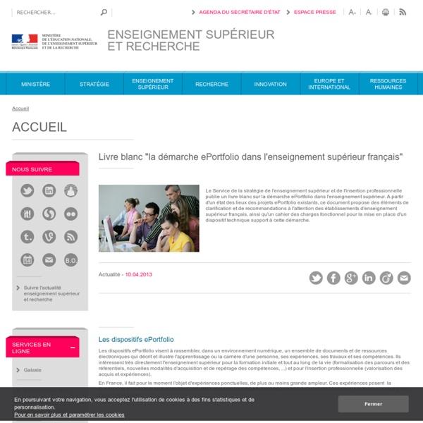 """Livre blanc """"la démarche ePortfolio dans l'enseignement supérieur français"""""""
