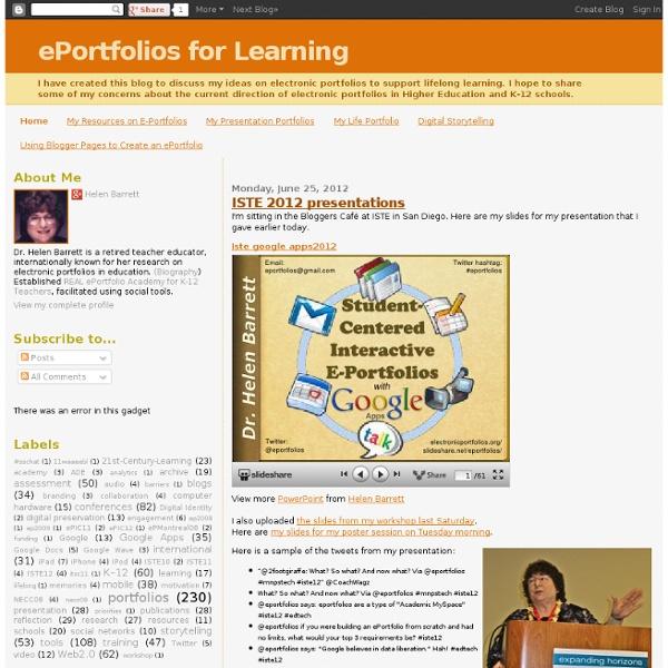 ePortfolios for Learning