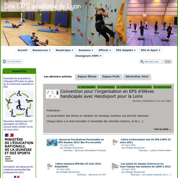 EPS Académie de Lyon