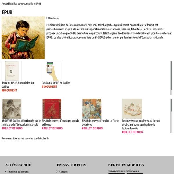 Gallica vous conseille 150 livres au format EPUB