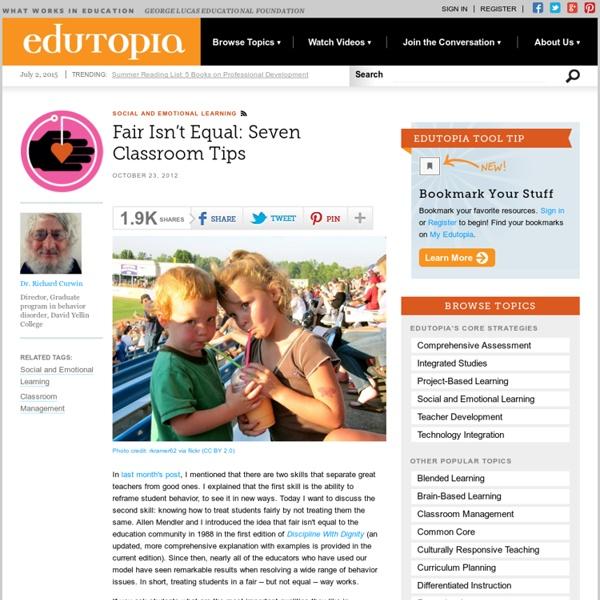 Fair Isn't Equal: Seven Classroom Tips