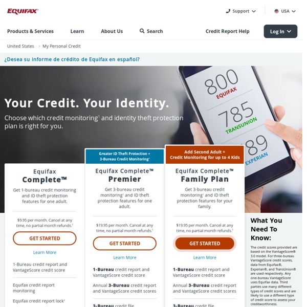 Equifax: Check Your Credit Report & Credit Score Ratings
