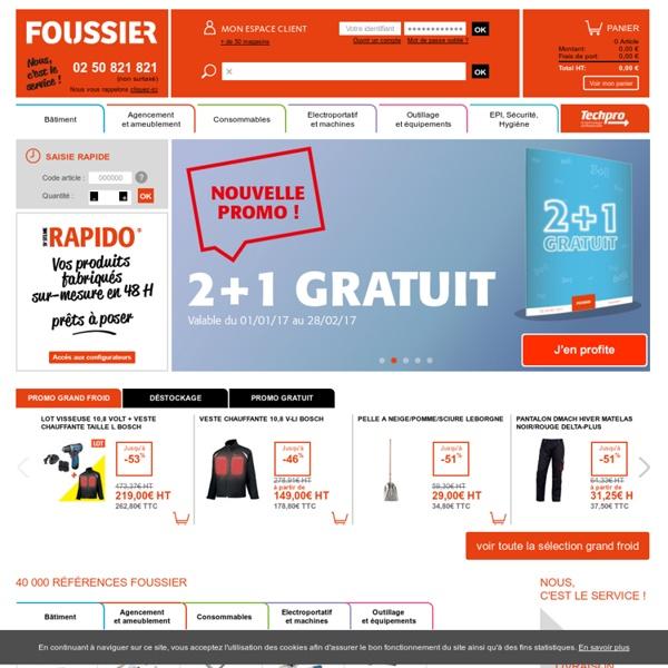 Outillage, visserie, fixation, équipement de protection... - Foussier Quincaillerie
