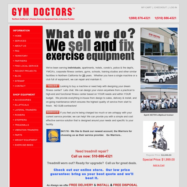 Gym Doctors - Exercise Equipment Sales and Service Northern California
