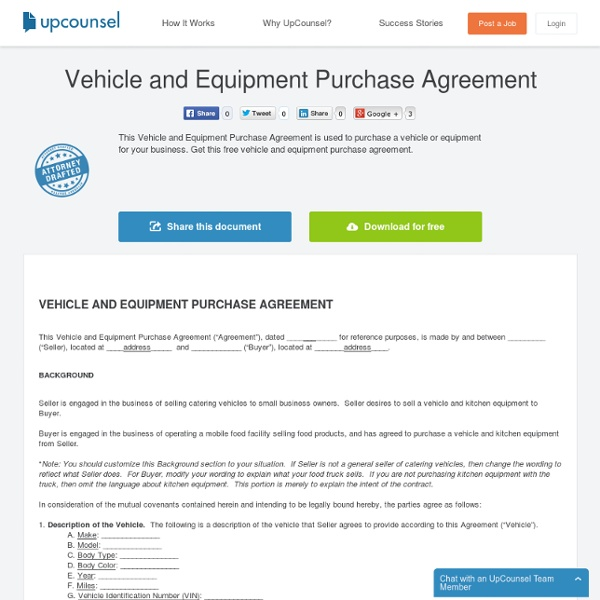 Vehicle And Equipment Purchase Agreement Free Download Pearltrees