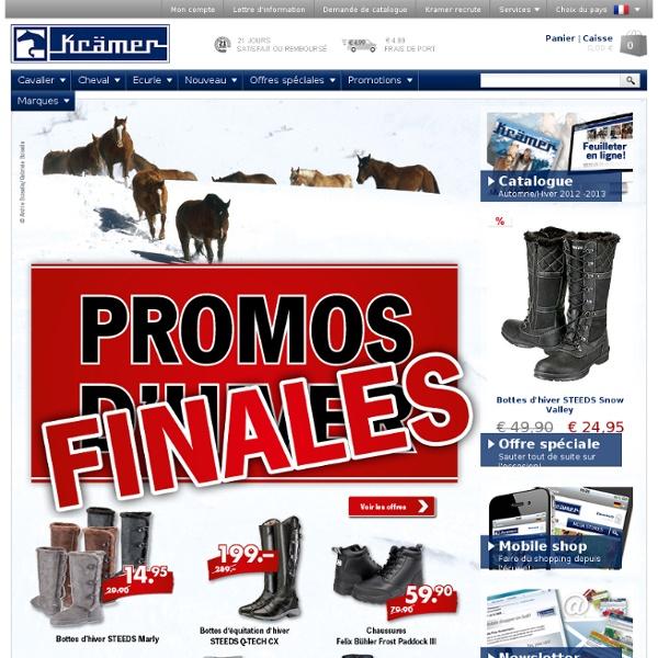 Kramer Equitation: articles d'équitation, accesoires d'équitation, vêtements d'équitation, culottes d'équitation, vestes d'équitation, articles pour chevaux