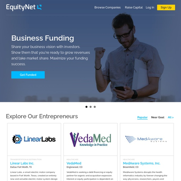 The Leading Business Crowdfunding Platform
