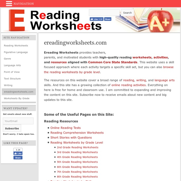 Free Reading Worksheets | Pearltrees