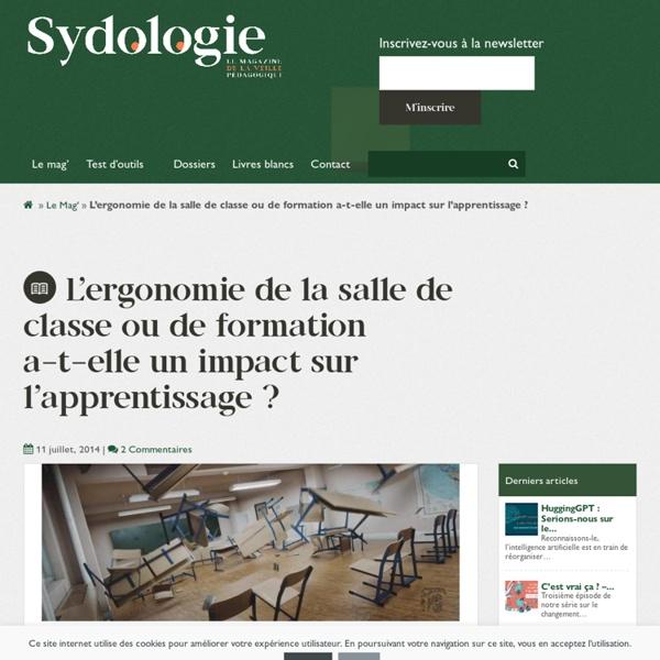 L'ergonomie de la salle de classe ou de formation a-t-elle un impact sur l'apprentissage ? - Sydologie