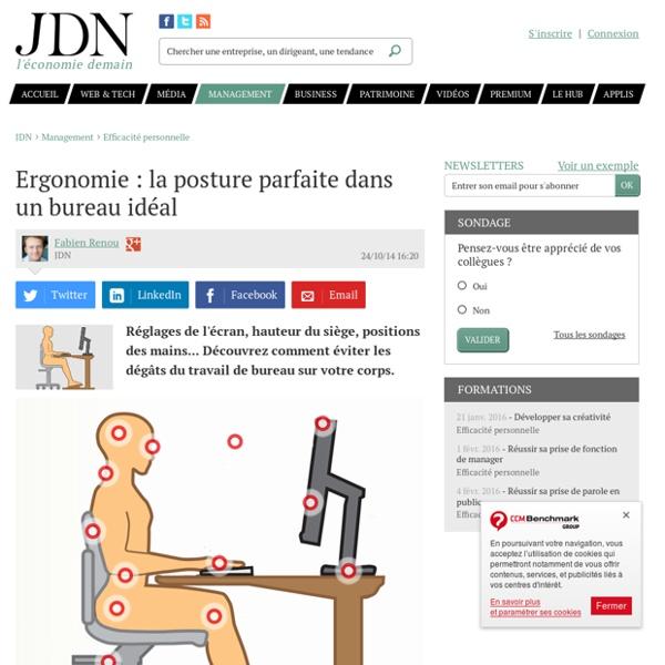 Ergonomie la posture parfaite dans un bureau idal Pearltrees