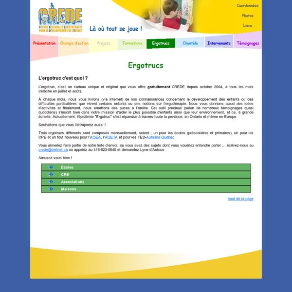 Centre régional d'ergothérapie pour le développement de l'enfant