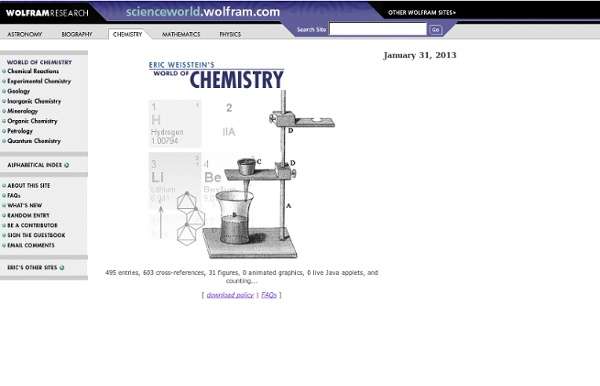 Eric Weisstein's World of Chemistry