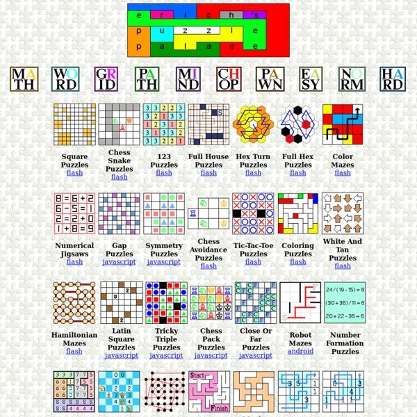 Erich's Puzzle Palace