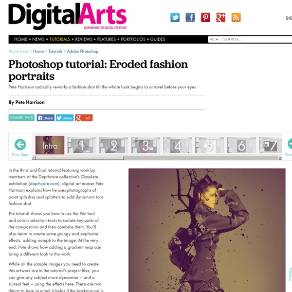 Eroded fashion portraits