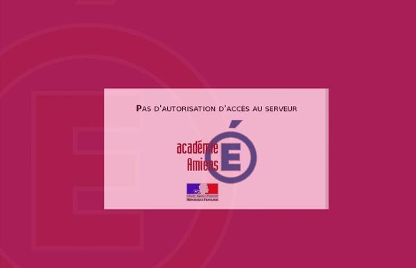 Erreur 403 - Académie d'AMIENS