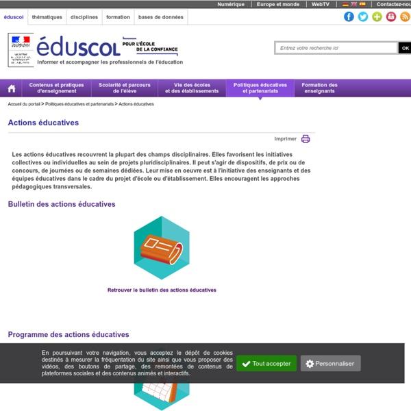 Le portail interministériel de l'éducation culturelle et artistique-Accueil