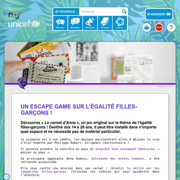 Un Escape Game sur l'égalité filles-garçons !