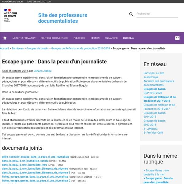 Escape game : Dans la peau d'un journaliste