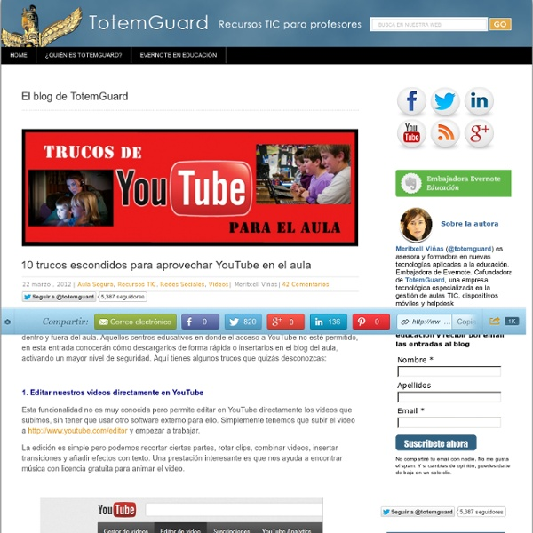 10 trucos escondidos para aprovechar YouTube en el aula