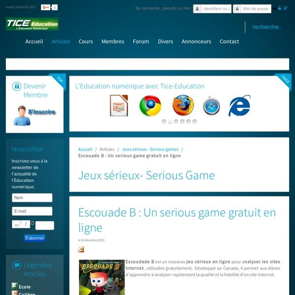 Escouade B : Un serious game gratuit en ligne