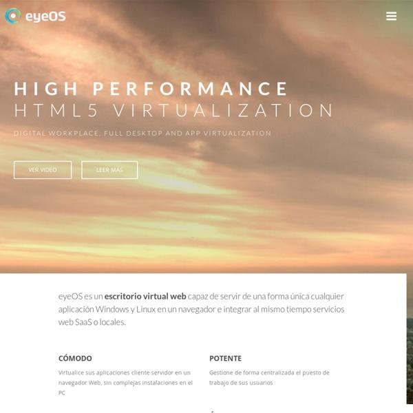 EyeOS - Cloud Computing – Web Desktop – Cloud Desktop