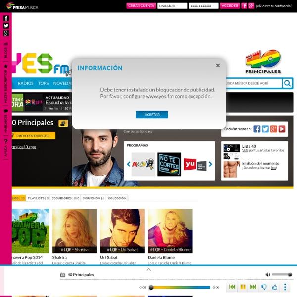 Canales de Radio en Los40.com