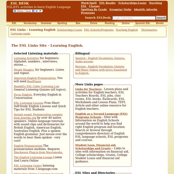 ESL Links - Learning English
