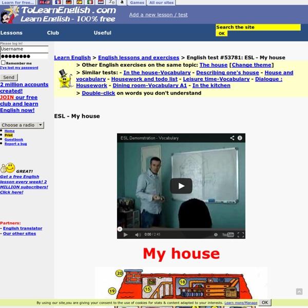 ESL - My house